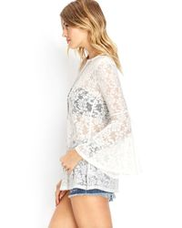 Forever 21 - Natural Listless Lace Tunic You've Been Added To The Waitlist - Lyst