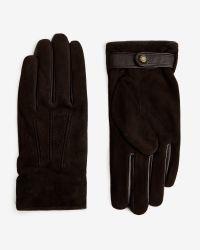 Ted Baker | Brown Sheepskin Gloves for Men | Lyst