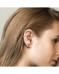 Astrid & Miyu - Gray Line Ear Jacket In Gunmetal - Lyst
