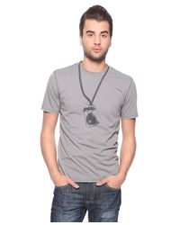 Forever 21 - Gray Camera Print Tee for Men - Lyst