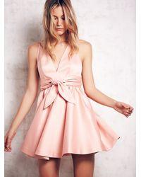 Free People | Pink Beck Deep V Dress | Lyst