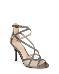 Pelle Moda | Metallic 'Everly' Sandal | Lyst