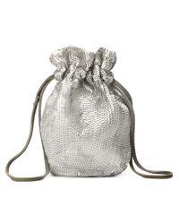 Prada - Metallic Sequin Drawstring Bag - Lyst