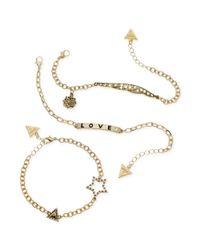 Guess | Metallic Goldtone Hippie Chic Bracelet Trio | Lyst