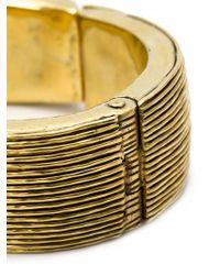 Vaubel - Metallic Multi Line Bangle - Lyst