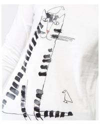 Paul by Paul Smith - White Cat Long Sleeve Top - Lyst