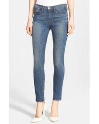 FRAME | Blue 'le Skinny De Jeanne' Jeans | Lyst