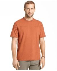 G.H. Bass & Co. | Orange Pieced Heathered T-shirt for Men | Lyst