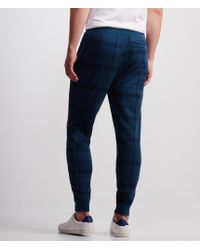 Aéropostale | Blue Plaid Jogger Sweatpants | Lyst