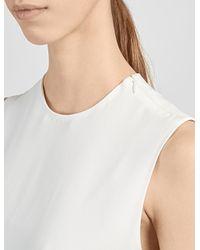 JOSEPH | Natural Sleeveless Belted Dress | Lyst