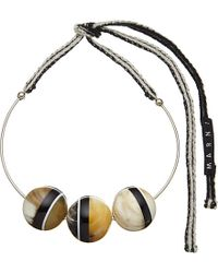 Marni | Brown Horn Necklace | Lyst