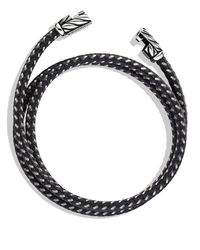 David Yurman - Metallic Chevron Triple-wrap Bracelet In Gray for Men - Lyst