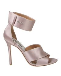 Badgley Mischka | Pink Kassie Satin High-heel Sandals | Lyst