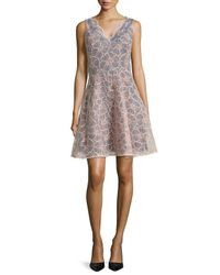 ERIN Erin Fetherston | Multicolor Vanessa Sleeveless Floral Embroidered Dress | Lyst