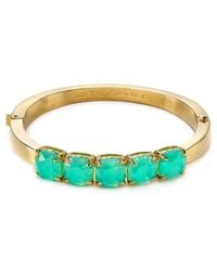 kate spade new york | Blue Squared Away Hinge Bangle | Lyst