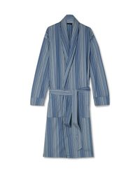 Paul Smith - Blue Striped Cotton Robe for Men - Lyst