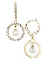 Judith Jack | Metallic 'Pearl Delight' Faux Pearl Drop Earrings | Lyst