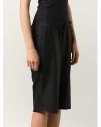 UTZON | Black Drawstring Waist Shorts | Lyst