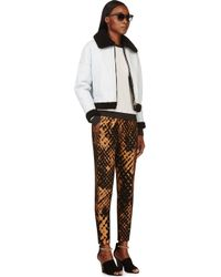 3.1 Phillip Lim - Black And Bronze Felted Jacquard Techno Trousers - Lyst