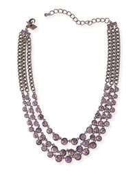 Sequin - Metallic Katharine Triple-Strand Crystal Necklace - Lyst