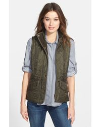 Barbour - Green 'cavalry' Quilted Vest - Lyst