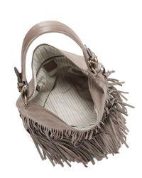 Frye | Gray Heidi Leather Hobo Bag | Lyst