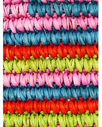 Sensi Studio - Natural Maxi Straw Tribal-Print Tote - Lyst