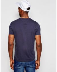 Hilfiger Denim | Blue T-shirt With Logo Print In Dark Navy for Men | Lyst