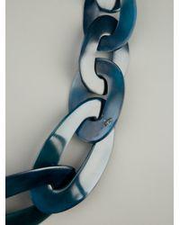 Monies   Blue Chain Link Necklace   Lyst