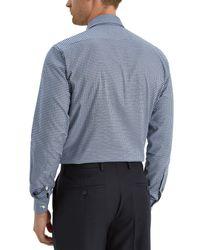 Jaeger | Blue Textured Gingham Modern Shirt for Men | Lyst