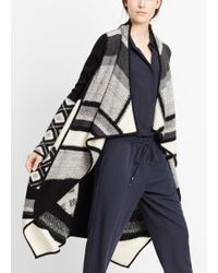 Vince - Black Asymmetric Cardi-coat - Lyst