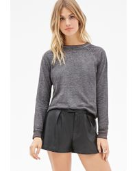 Forever 21 | Gray French Terry Sweatshirt | Lyst