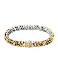 John Hardy | Metallic Classic Chain Gold & Silver Medium Reversible Bracelet | Lyst