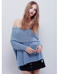 Free People - Blue Womens Close To Me Pullover - Lyst