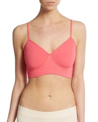 Yummie By Heather Thomson | Pink Audrey Seamless Bralette | Lyst
