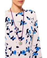 Abellan New York | Purple One Of A Kind Diamond And Amethyst Tassel Pendant Necklace | Lyst