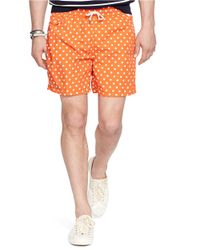 Polo Ralph Lauren | Orange Traveler Dotted Swim Shorts for Men | Lyst