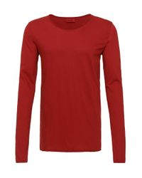 HUGO | Red Loose Fit Long-sleeved Shirt In Cotton: 'doops' for Men | Lyst