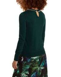 Oasis | Green Necklace High Neck Top | Lyst