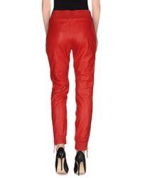 Giuseppe Zanotti - Red Casual Trouser - Lyst