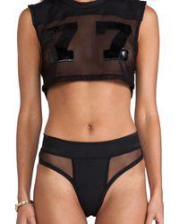 Minimale Animale Quarterback Punk Bikini In Black Lyst