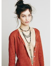 Free People - Black Womens Chain Ladder Necklace - Lyst
