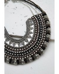 Forever 21 | Metallic Beaded Chain Statement Necklace | Lyst