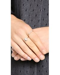 Ginette NY - Metallic Twenty Ten Diamond Ring - Rose Gold/clear - Lyst