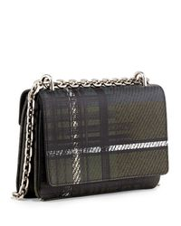Prada - Green Tartan-Plaid Leather Shoulder Bag - Lyst
