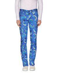 KENZO - Blue Casual Trouser for Men - Lyst