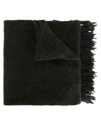 Golden Goose Deluxe Brand - Gray Fringed Scarf - Lyst
