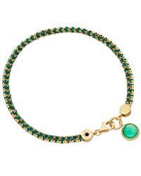 Astley Clarke | Green Quartz Woven Biography Bracelet | Lyst