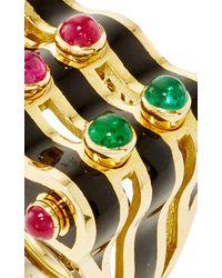 David Webb - Multicolor Domino Ring - Lyst