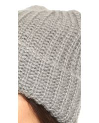 1717 Olive - Gray Lofty Rib Knit Cuffed Beanie - Lyst